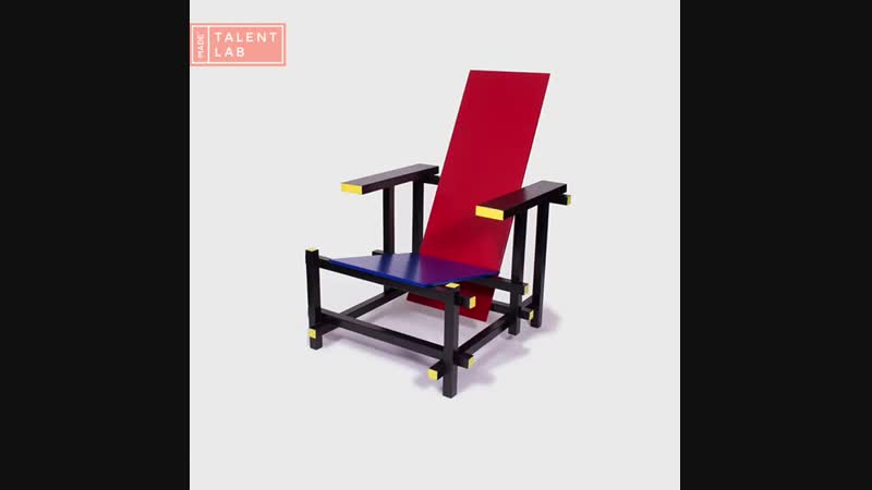 The De signmethodology de iconizes the Red blue chair of Gerrit Rietveld