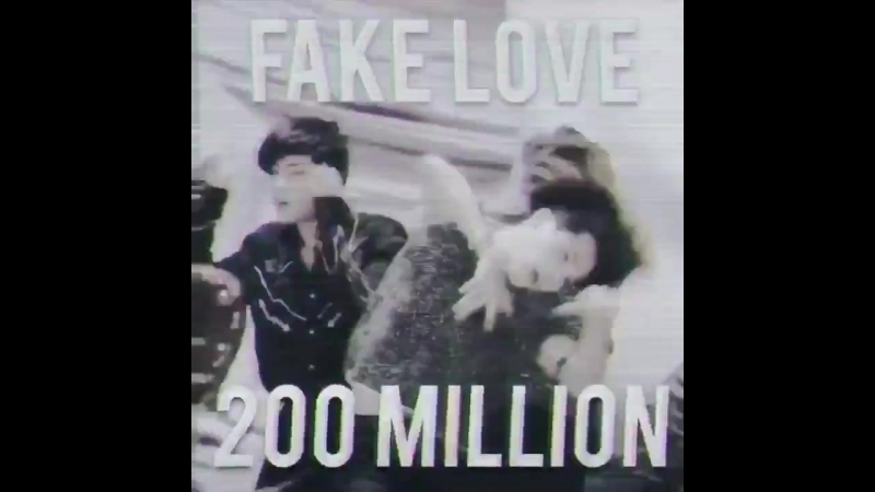 FAKE LOVE Official MV by @BTS twt has surpassed 200 MILLION views on YouTube FakeLove200M