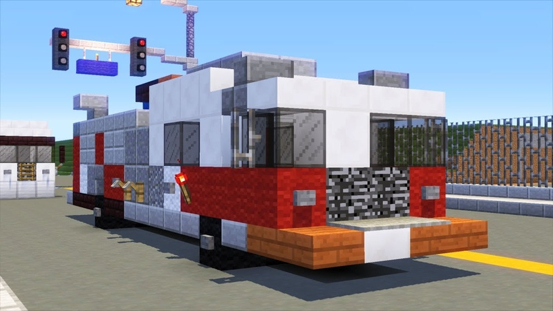 Minecraft NYC FDNY Fire Engine Pumper Tutorial (2017)