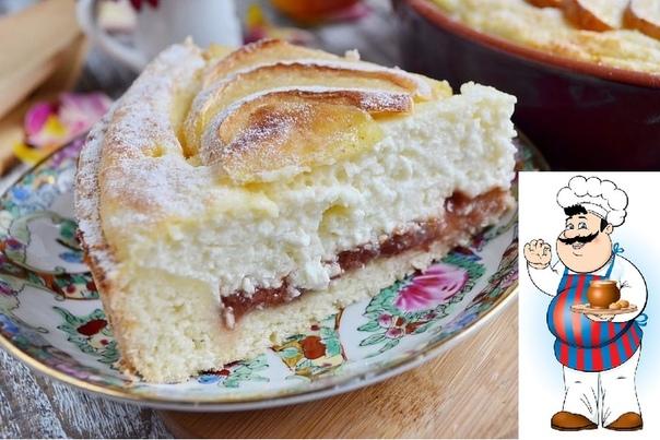 воздушный творожный пирог с яблоками сохрани, чтобы порадовать себя ингредиенты: для теста: сливочное масло 125 г яйцо 1 шт. мука 250 г сахар 50 г разрыхлитель 0,5 ч. л. соль 1 щепотка вода 4050