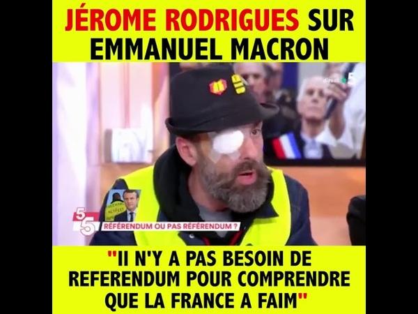Jérôme Rodrigues Monsieur Macron, allez parler aux gens, vous allez voir la détresse