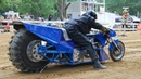 100 км ч за 0 7 секунды Top Fuel Motorcycle Dirt Drag Racing