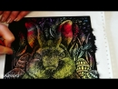 Рисуем пасхального кролика в технике граттаж Темпера Масляная пастель