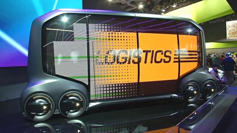 Электрокар для одного и беспилотный автобус на выставке CES