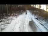 Покатушки№5 TTR125 и DELTA в снежном лесу