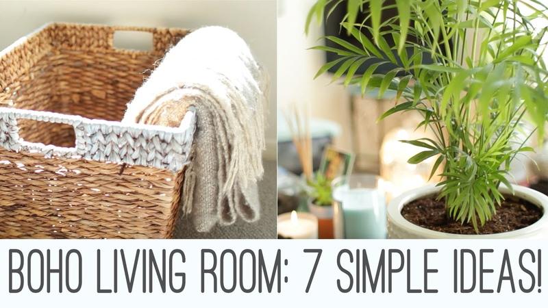 Boho Living Room - 7 simple ideas!
