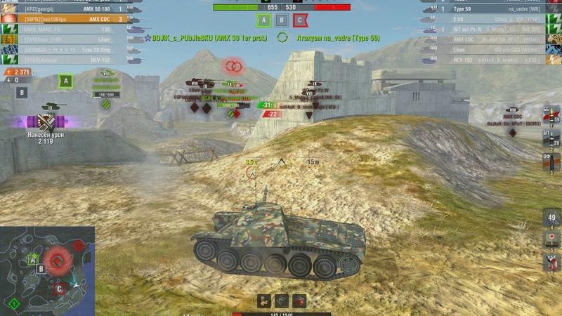 WoT Blitz- AMX CDC МАСТЕР ВОИН РЕЙТИНГОВЫЙ БОЙ