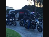 Аrchmotorcycle Owners Ride departs Ritz-Carlton for a day on the open road.