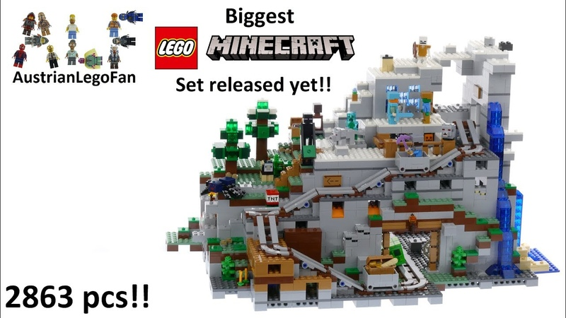 Lego Minecraft 21137 The Mountain Cave - Lego Speed Build Review