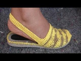 Sandalia modelos saomy tejida a crochet (CON CHANCLA, CALIPSO)