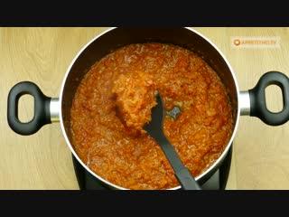 Готовлю несколько лет подряд! Томатный соус с перцем - любимая закуска нашей семьи