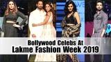 Bollywood Celebs At Anita Dongre Show Lakme Fashion Week 2019 Day 2