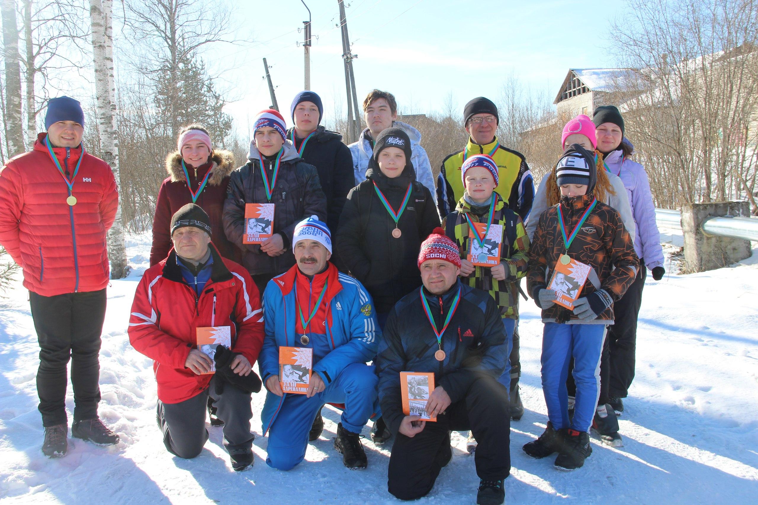 Итоги сегодняшней лыжной гонки в п. Деревянка