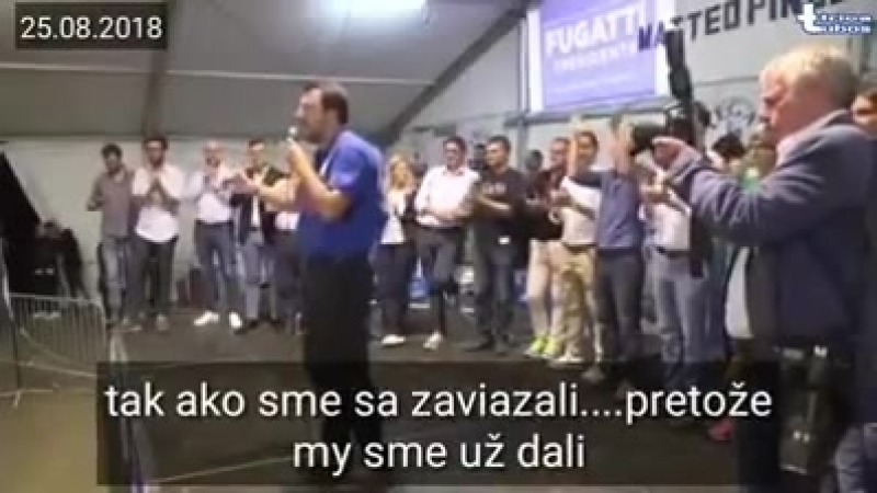 Hrica Lubos Matteo Salvini 🇮🇹Nebudeme financovať