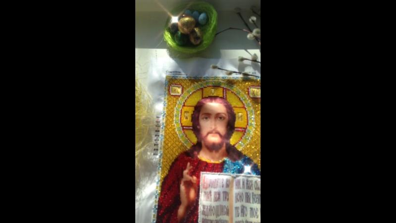Иисус Христос бисером✨✨✨