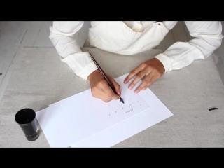 как правильно сидеть и держать перо при рисовании тушью