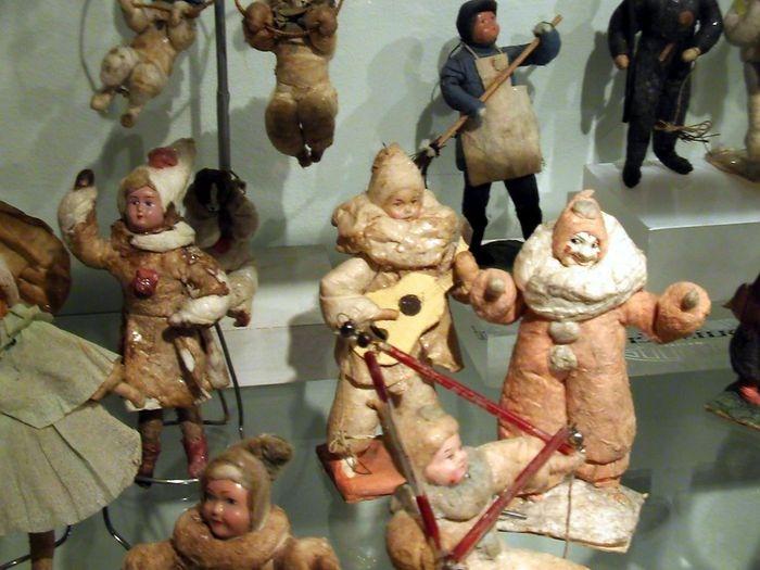 антикварные елочные игрушки