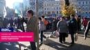 Киевские бомжи приветствуют марш радикалов