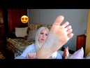 FOOT MASSAGE. TOE WIGGLING. WHISPERS AND SHINY FOOT SOLES ASMR