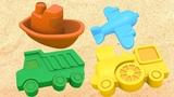 Мультики для детей. Развивающие игрушки. Лепим куличики из песка