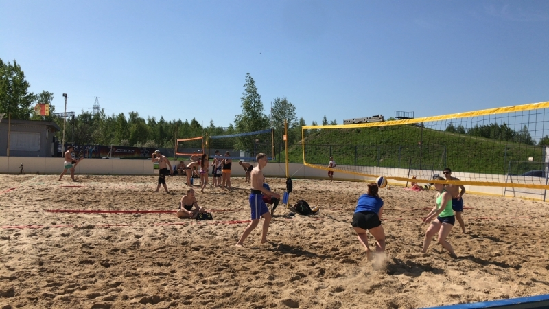 Турнир по пляжному волейболу ЗимаЛетопарк
