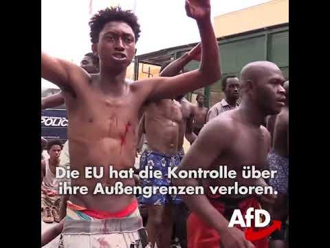 Dr. Alice Weidel AfD. Hunderte überfallen Ceuta mit Saure! 23.08.2018