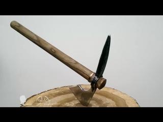 Самодельный томагавк из ЖД костыля.