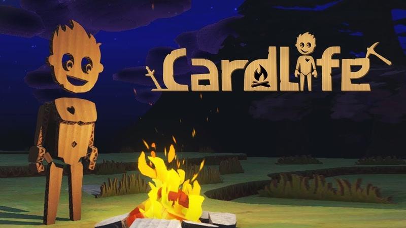 CardLife ОЧУТИЛСЯ в ЖЕСТОКОМ КАРТОННОМ МИРЕ! Мультяшная игра КАРТОННЫЙ МАЙНКРАФТ