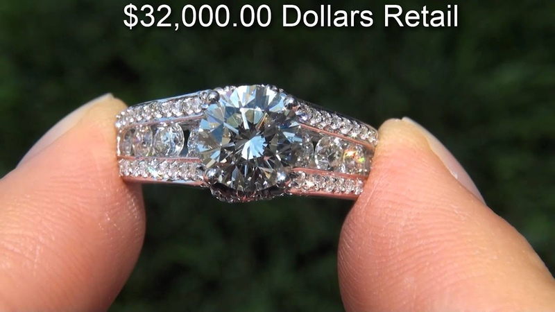 EGL CERTIFIED Untreated VVS2 2 72 Carat Diamond Engagement Ring Solid 14K