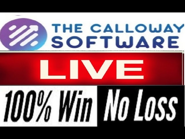 Calloway Software Never Loses A Trade! Watch It Live!! (Amazing)