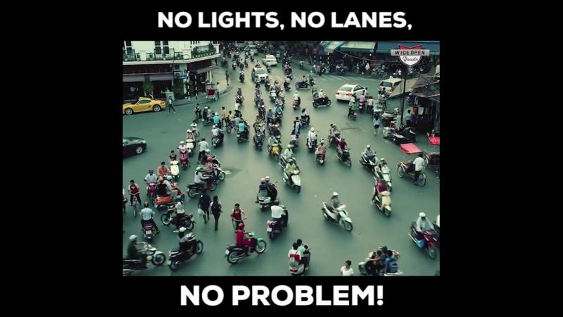 нет светофоров, нет полос движений и нет проблем...