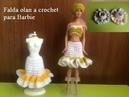 Falda olan a crochet para barbie