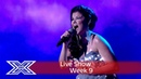 Saara Aalto lights up the stage with Sia's Chandelier   Semi-Final   The X Factor UK 2016