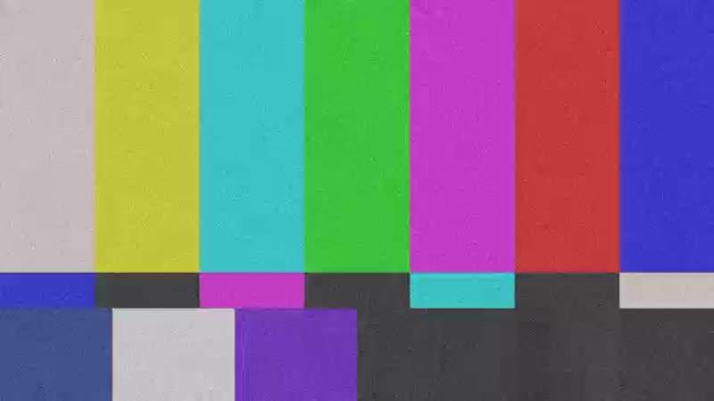 Футаж для переходов Помехи в телевизоре Шипение шум глитч mp4