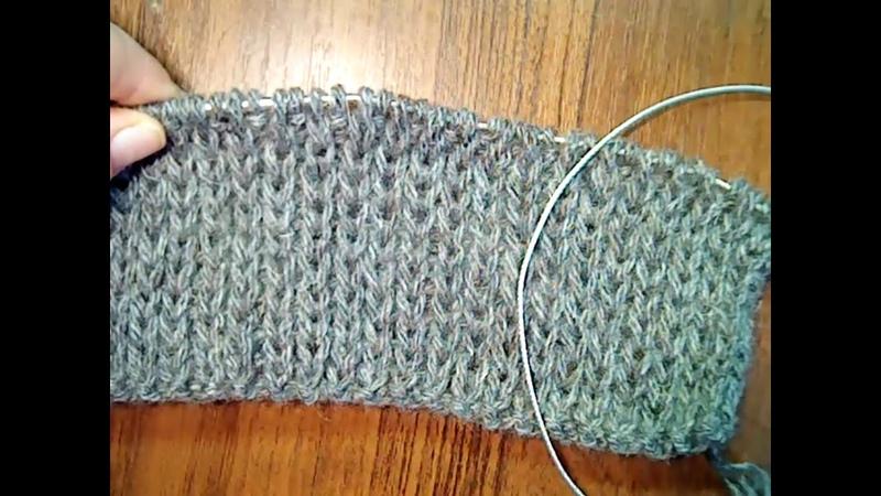 Вязание мужских следков - тапочек 44-45 размера.