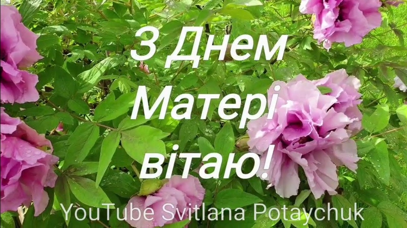 З Днем Матері вітаю! Дуже гарне привітання. 12 травня. День Матері. Вітання. Відео. Відео-листівка.