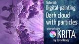 Dark matter cloud particles effect - Krita digital-painting tutorial