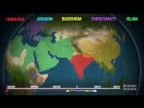 Animated map shows how religion spread around the world.mp4