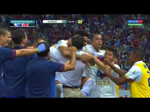 Gol de Gustavo Fortaleza 2 x 1 Guarani - Brasileiro Série B 2018