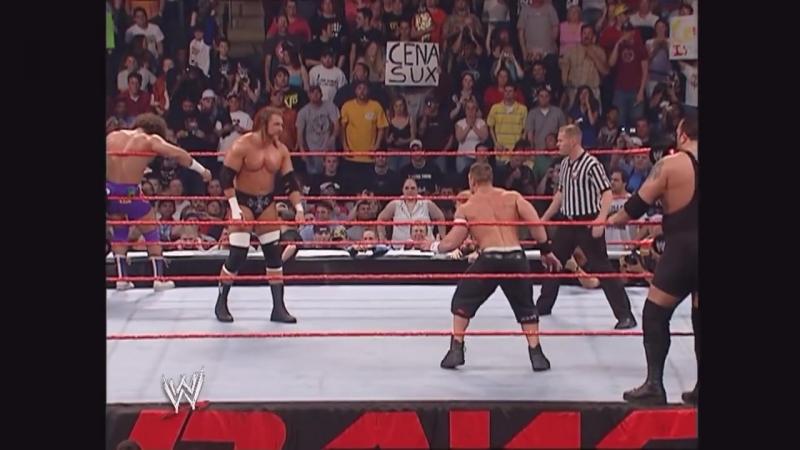 John Cena, Kane Big Show vs. Triple H Carlito Masters Orton Raw 2006