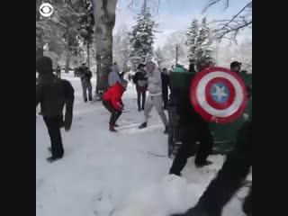 Снежная битва в Такоме