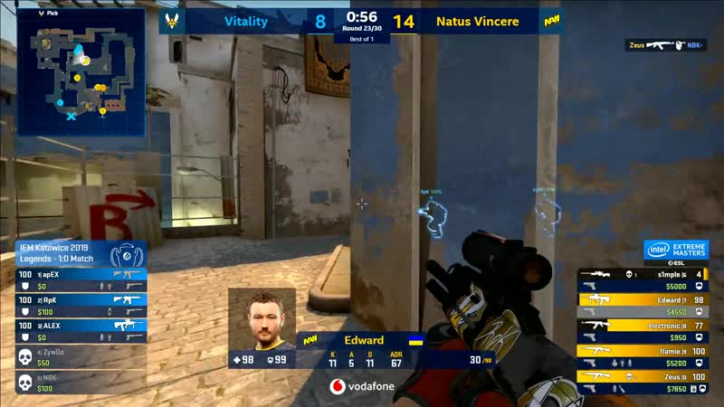 Vitality. Mirage. apEX 4k vs NaVi IEM Major Katowice 2019 Legend Stage