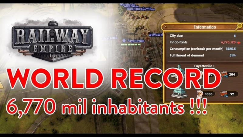 Railway Empire - World Record - City with 6,770 mil inhabitants by VAZ