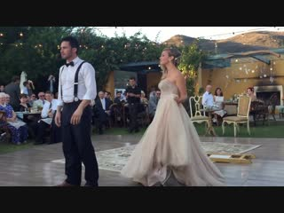 Deep House presents: Bride puts a spell on her magician groom during first dance [HD 720]