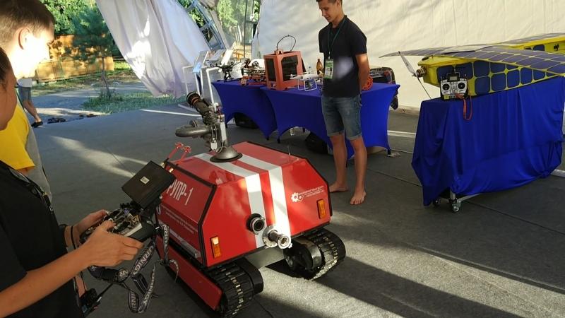 пожарный радиоуправляемый робот РУПР-1