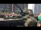 В Курске перевернулся Т-34