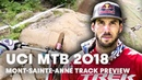 Gee Atherton Takes You Down The MTB Downhill Track At Mont-Sainte-Anne. UCI MTB 2018