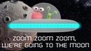 🚀 Zoom Zoom Zoom We're Going to the Moon 👩🚀 👽 Nursery Rhymes Songs for Kids Karaoke