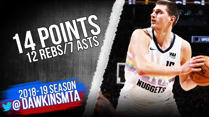Nikola Jokic Full Highlights 2018.11.13 Rockets vs Nuggets - 14 Pts, 12 Rebs, 7 Asts | FreeDawkins