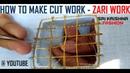 HOW TO MAKE AARI WORK AND ZARI WORK CUT WORK 2 PART 14 DIY TUTORIAL @ MAGGAM WORK